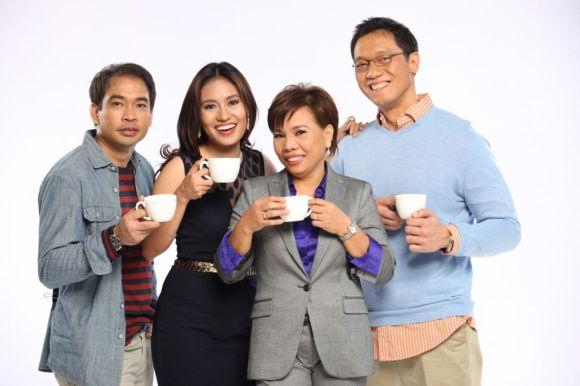 KAPE AT BALITA Michael Fajatin, Mariz Umali Susan Enriquez and Joel Reyes Zobel