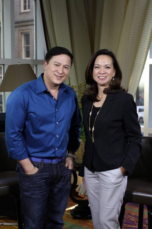 Pusong Pinoy Sa Amerika host Atty Lou Tancinco and its director Eric Quizon