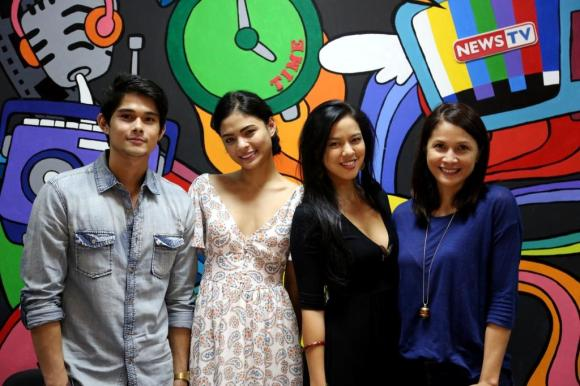 Carl Guevarra, Lovi Poe, Agot Isidro and Mara Lopez at the pre-production meeting for GMA News TV's TITSER