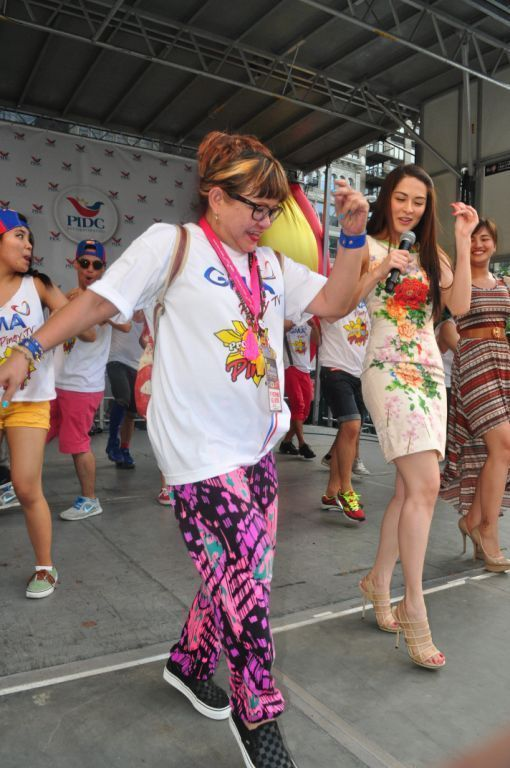 Choreographer Geleen Eugenio and Marian Rivera at the New York parade