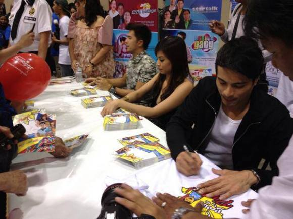 Dennis, Glaiza and Rafael at the Meet-and-Greet Pinoy Fiesta Toronto