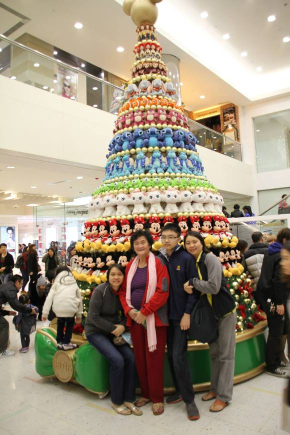 Disney Character Christmas Tree in Harbour City