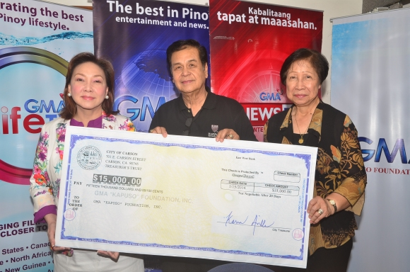 GMA Kapuso Foundation accepts donation from Carson City