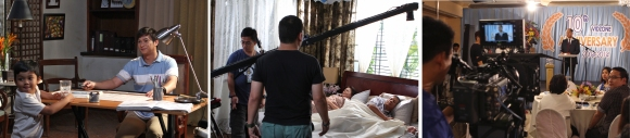 Behind the scene photos of Puso Ang Una campaign (by GMANetwork.com)