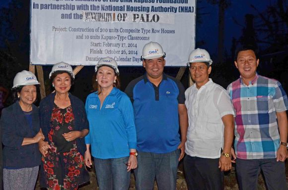 Groundbreaking ceremony for Kapuso Village Palo