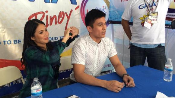 Kapuso stars Heart Evangelista and Tom Rodriguez