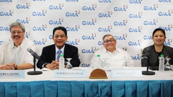 Photo shows (from L-R): GMA EVP and CFO Felipe S. Yalong, President and COO Gilberto R. Duavit, Jr., Chairman and CEO Felipe L. Gozon and GMA Marketing and Productions, Inc. President and COO Lizelle G. Maralag