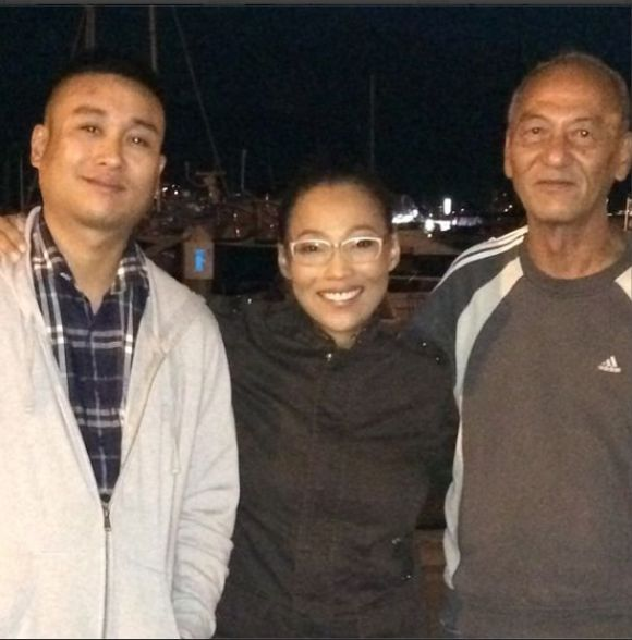 Joshua Kagahastian, Jaya, and Rey Kagahastian are reunited in Vancouver, Canada.