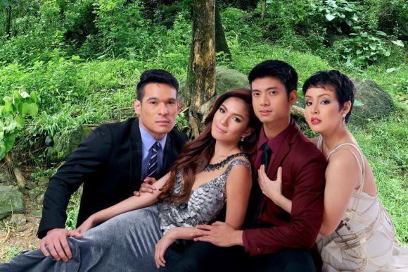 Ang Lihim Ni Annasandra Cast Mikael Daez, Andrea Torres, Pancho Magno, and  Cris Villonco