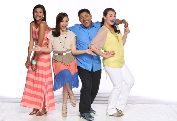 Basta Everyday Happy hosts - Alessandra de Rossi, Gladys Reyes, Chef Boy Logro and Donita Rose