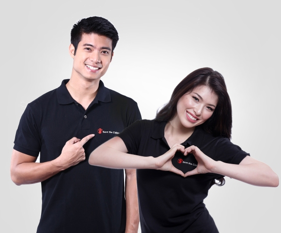 Mikael Daez and Kylie Padilla for Save the Children