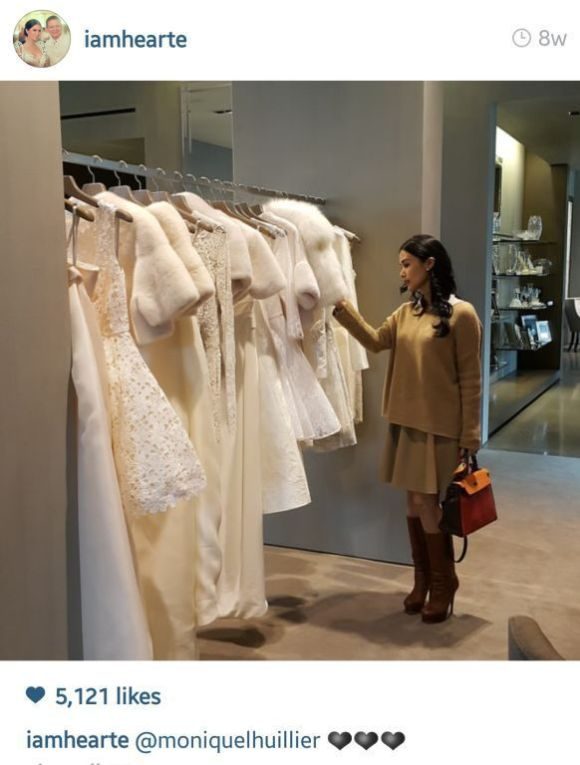 Heart at Monique Lhuillier's atelier (Photo from Heart's Instagram)