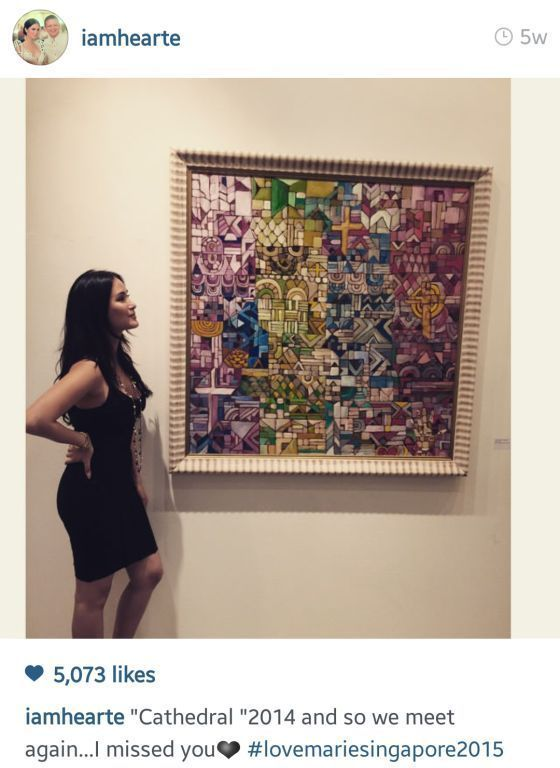 Heart's art exhibit in Singapore (Photo from Heart's Instagram)