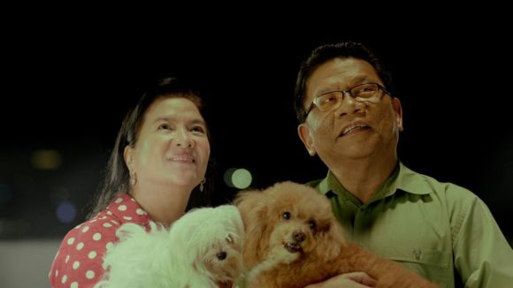 Mike-Enriquez-and-wife-Baby-GNTV-SID-2014