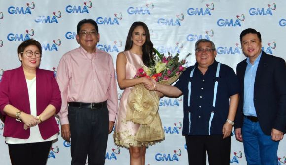 Megan Young's contract signing