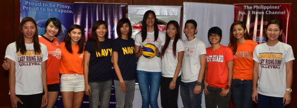 Some of the league's star players were also present including, (from left) Pau Soriano, Aby Maraño, Fille Cainglet-Cayetano, Pauline Genido, Hezzymie Acuña, Jaja Santiago, Cha Soriano, Sue Roces, Sarah Jane Espelita, Nelet Clarete and Angeli Tabaquero.