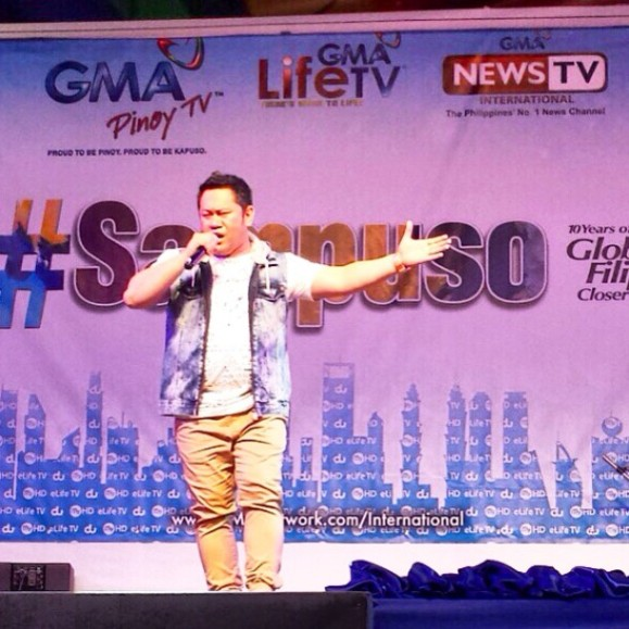 Betong Sumaya Jr. performs onstage