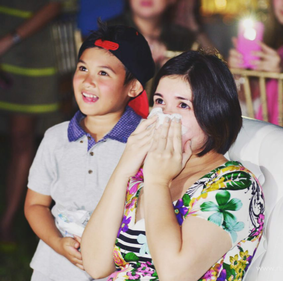 Camille Prats and son Nathan