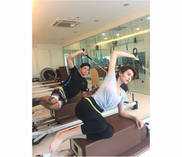 Dennis and Jennylyn at the gym together
