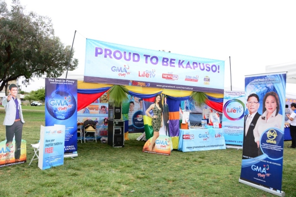 GMA Pinoy TV booth at the Mabuhay Festival 2015