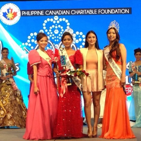 Heart poses with the winners of Miss Teen Philippines Canada