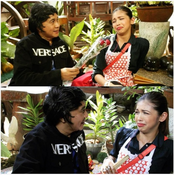 Jose Manalo's character Frankie Arenolli with Yaya Dub (photo courtesy of Maine Mendoza's instagram account)